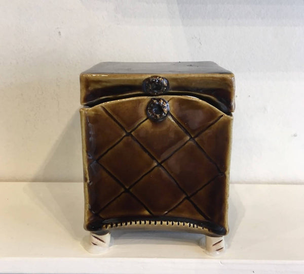 Amber Quilted Treasure Box