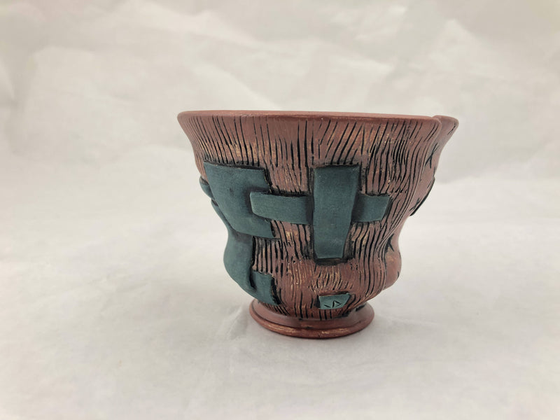 Red and Turquoise Terrasig Cup