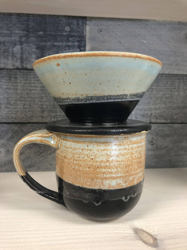 Pour-over set Blue/black