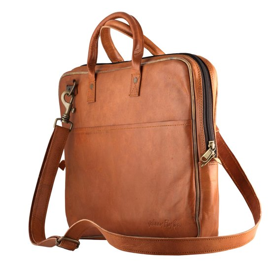 Eco leren laptoptas