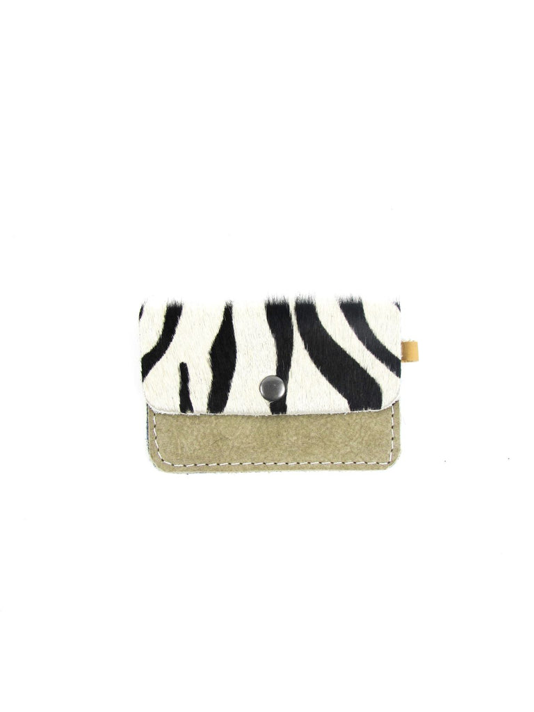 MINI wallet zebra - beige