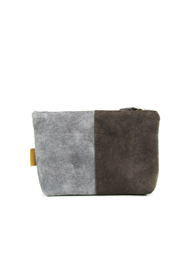 LOA clutch dark brown - grey