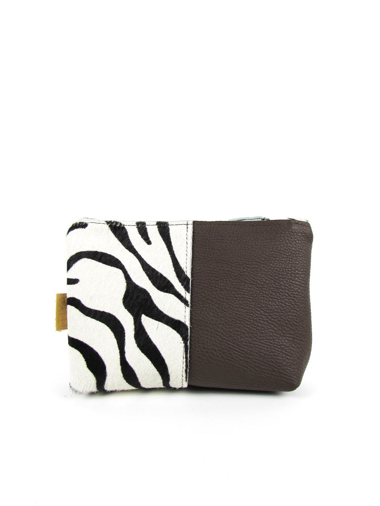 LOA clutch 11 zebra - brown