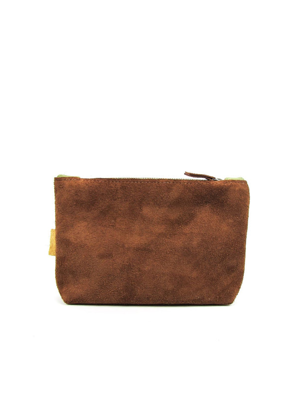 LOA clutch green - warm brown