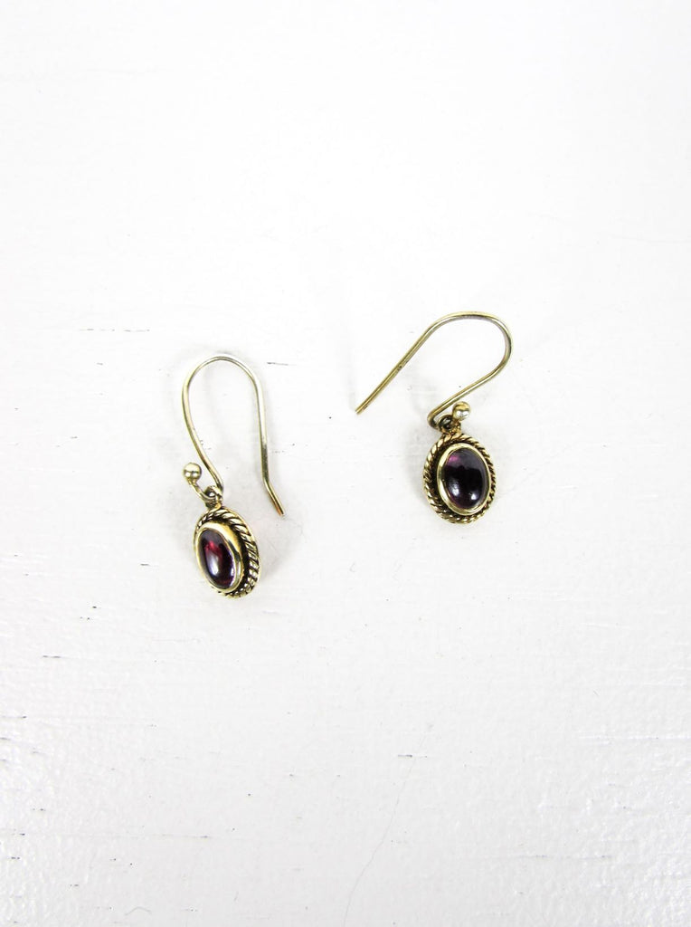 Gold plated earrings purple