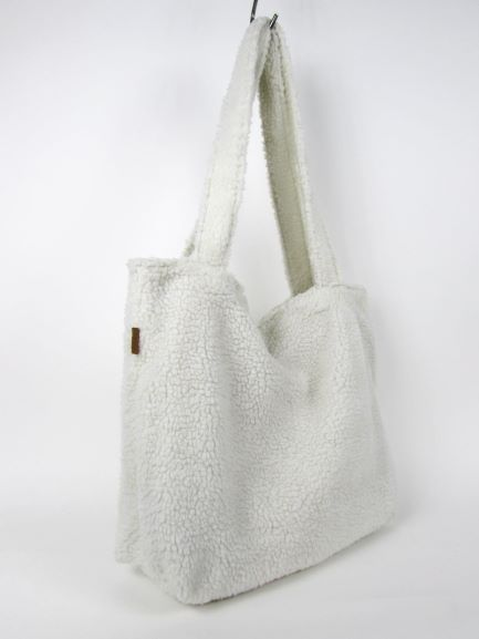 COSY WHITE Shopper zip