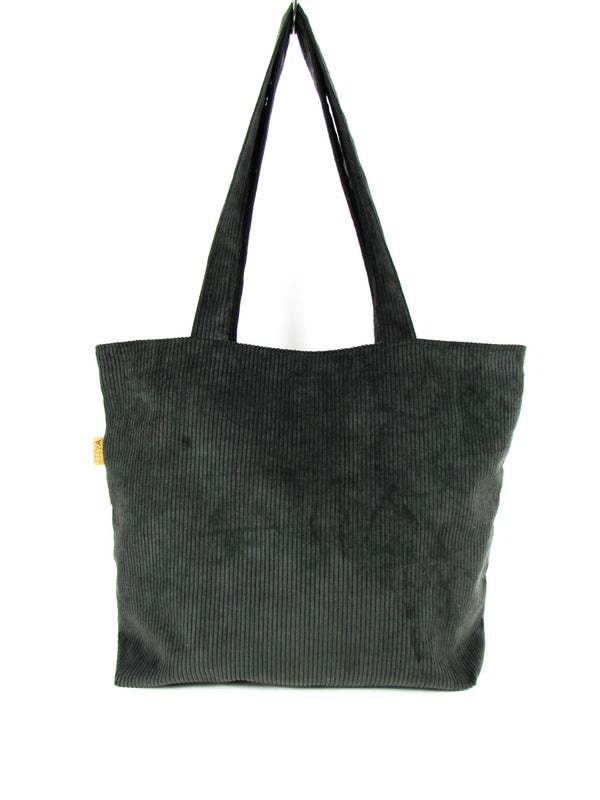 DARK GREY Shopper zip