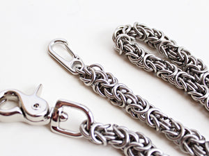 Thick Byzantine Wallet Chain Stainless Steel by San Filippo Leather