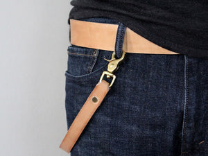 brass and leather wallet chain strap san filippo leather