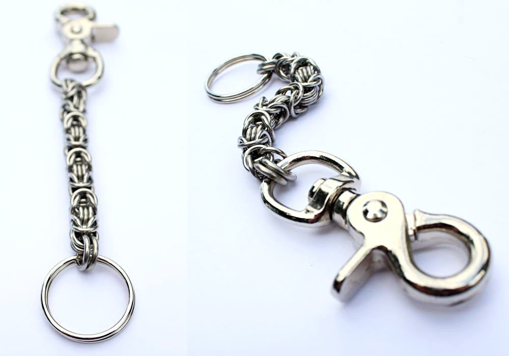 byzantine key chain by san filippo leather