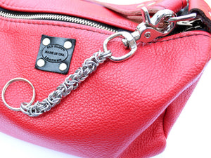 byzantine key chain for purse by San Filippo Leather