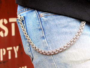 custom wallet chain stainless steel silver mens accessories fashion by san filippo leather