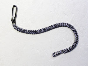 stainless steel persian wallet chain silver by san filippo leather