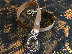 custom leather strap wallet chain wallet leash by san filippo leather