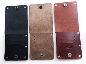 mens leather slim wallet rivets unique design by san filippo leather