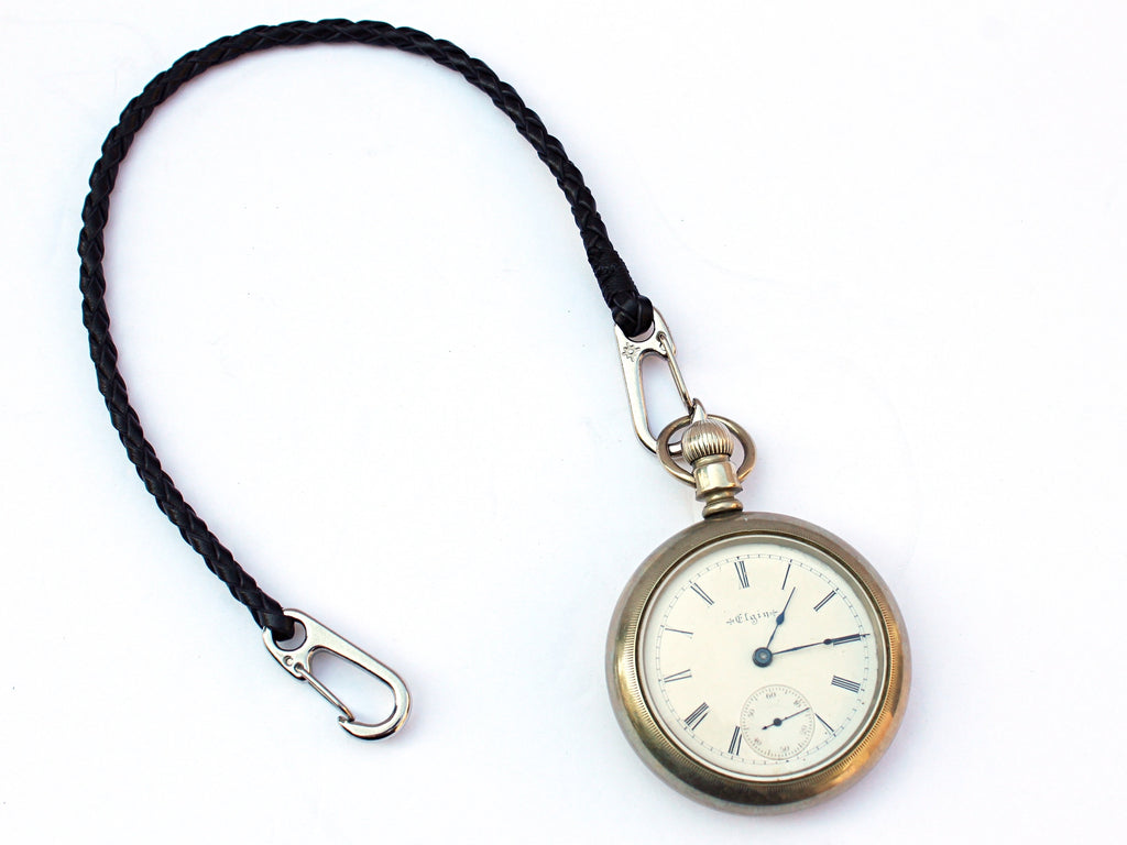 Braided Leather Pocket Watch Chain by San Filippo Leather