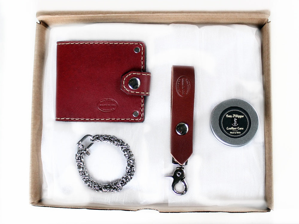 Bifold Wallet and Bracelet Gift Set