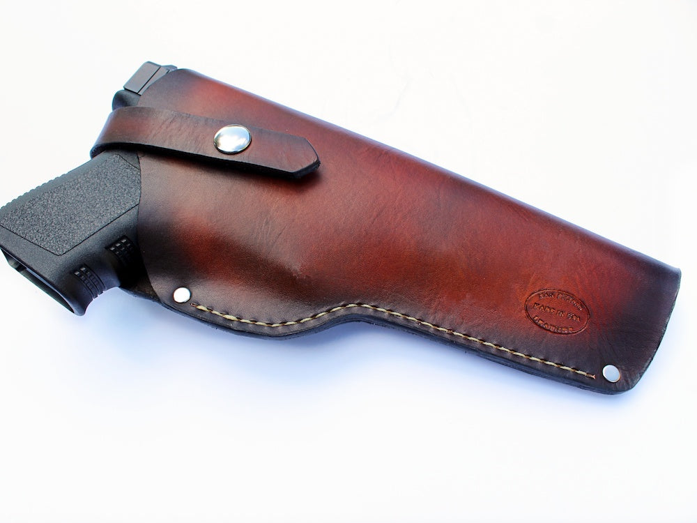custom leather gun holster by san filippo leather