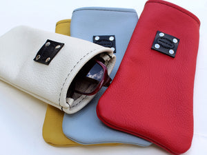 Soft Leather sunglasses case bright colors summertime by san filippo leather