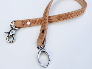 tooled leather wallet chain strap by san filippo leather