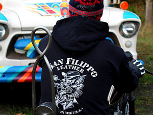 wolf logo hoodie san filippo leather