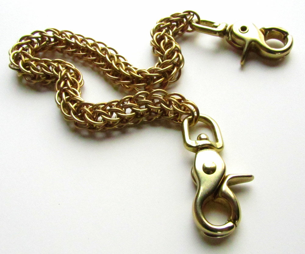 brass wallet chain with hook by san filippo leather