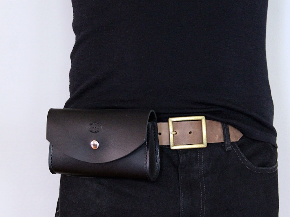 Men's Leather Belt Bag by San Filippo Leather