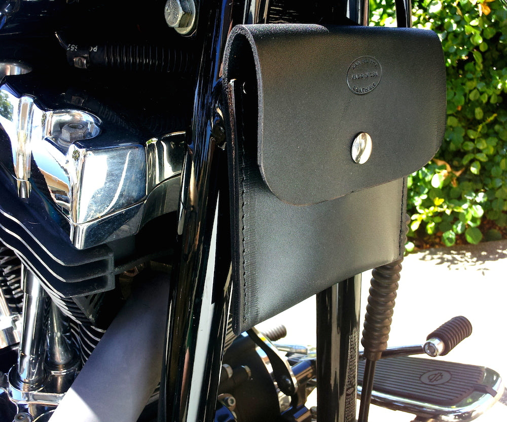 leather motorcycle registration and insurance bag by san filippo leather