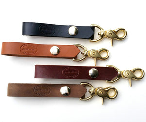brass and leather belt loop key chain san filippo leather