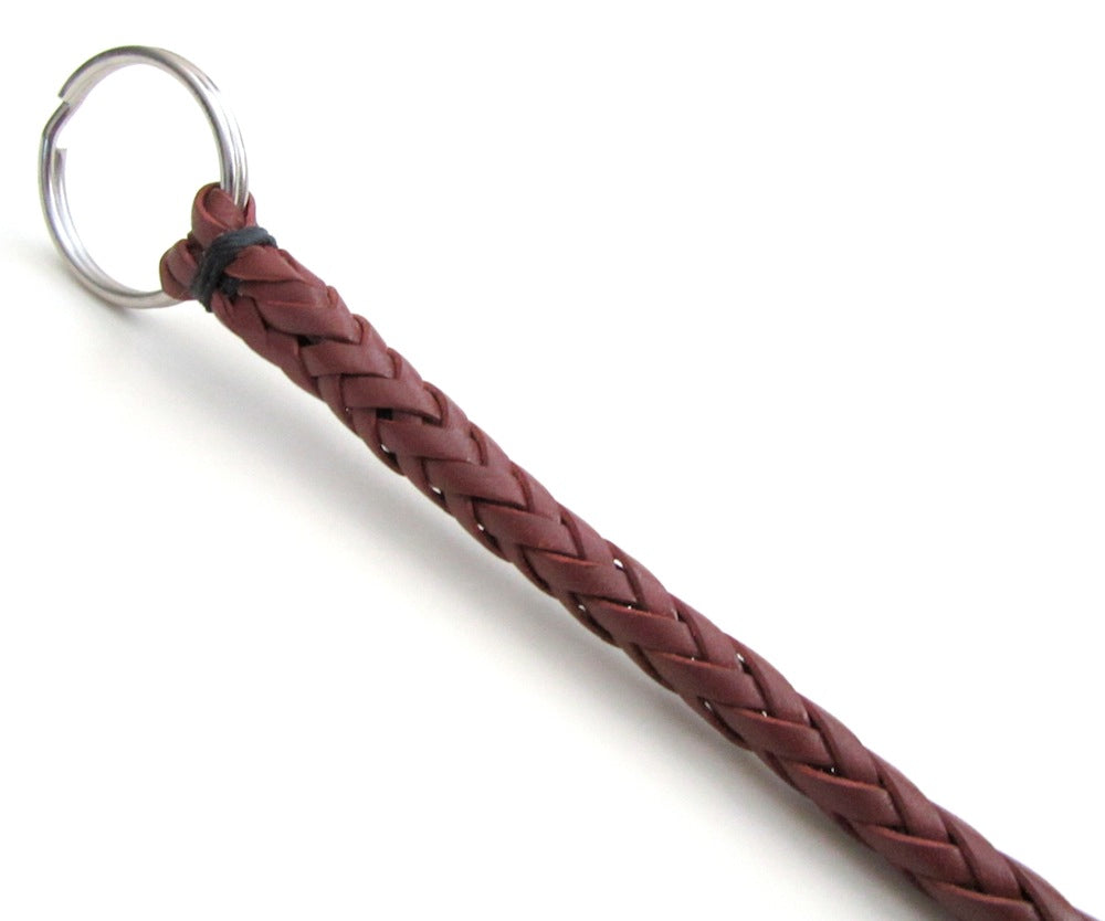 braided leather key chain san filippo leather