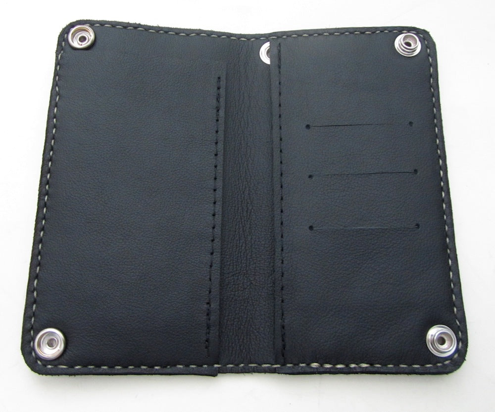Black & Grey Web Biker Wallet