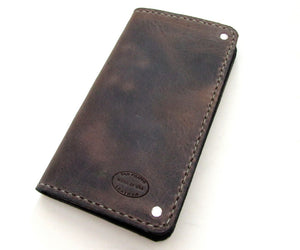 men's long leather wallet full size custom made by san filippo leather