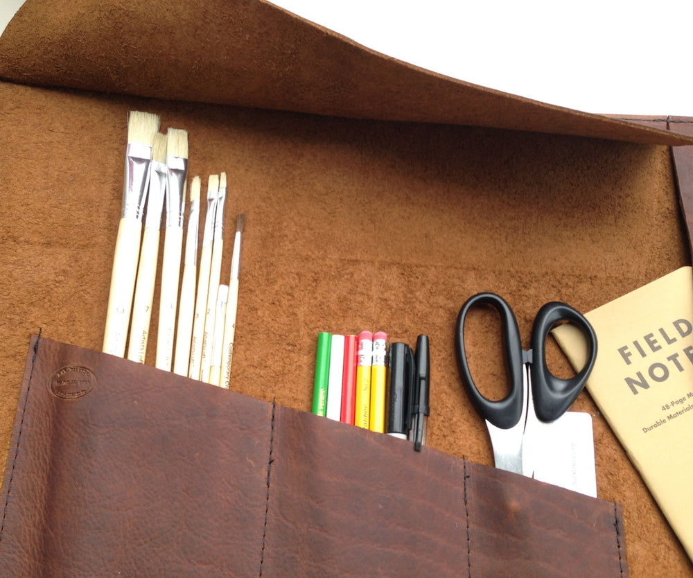 Leather Artist Roll Pencil Roll by San Filippo Leather
