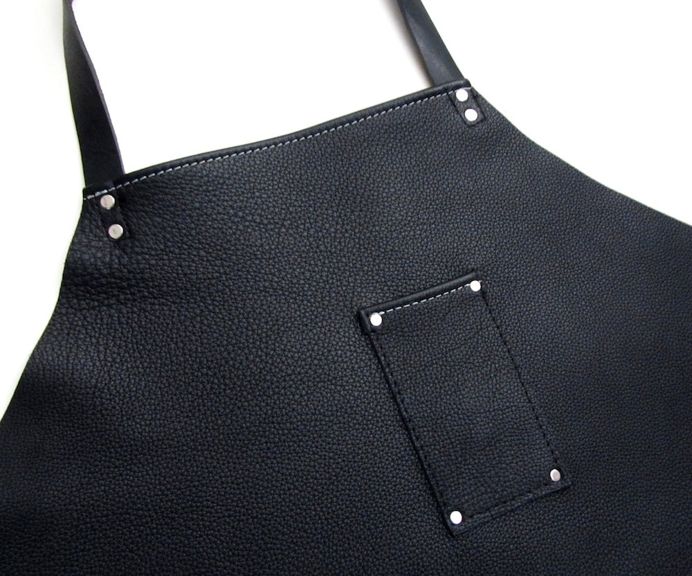 Industrial Leather Mens Shop Apron by San Filippo Leather