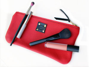 women's leather makeup bag by san filippo leather