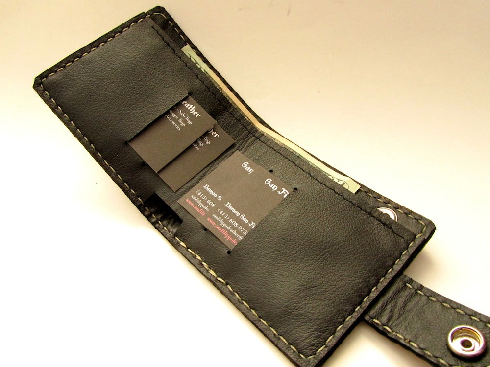 Grey Snap Bifold Wallet