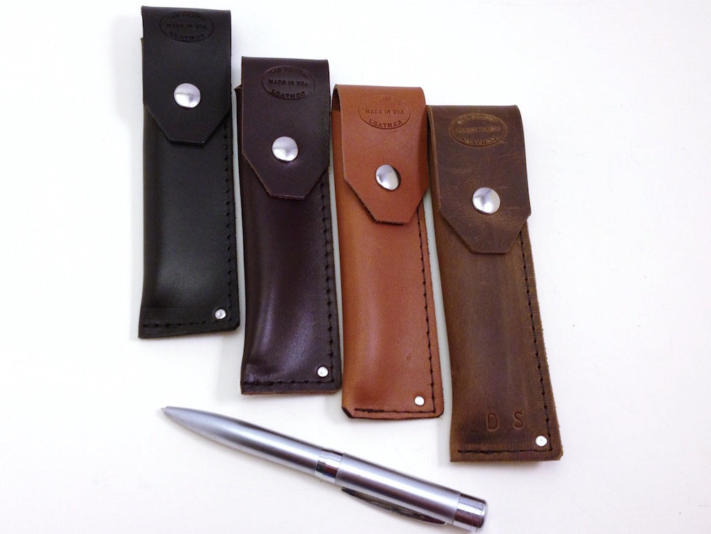 leather pen case personalized by san filippo leather