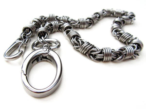 Stainless steel wallet chain orbit by san filippo leather