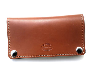 Classic leather biker wallet san filippo leather
