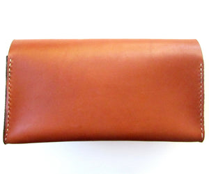 womens leather clutch with handle by san filippo leather