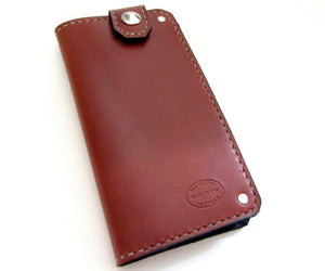 mens leather wallet top snap long full size custom wallets by san filippo leather