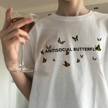 "Load image into Gallery viewer, ""Antisocial Butterfly"" Tee"