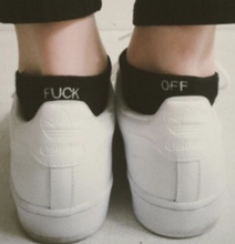 "Load image into Gallery viewer, ""Fuck Off"" Ankle Socks"