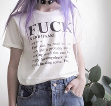 "Load image into Gallery viewer, ""Fuck"" Definition Tee"