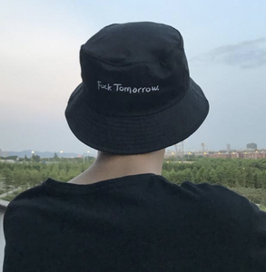 """Fuck Tomorrow"" Bucket Hat"