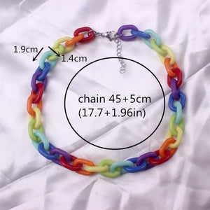 Rainbow Acrylic Chain