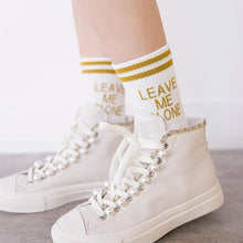 "Load image into Gallery viewer, ""Leave Me Alone"" Socks"