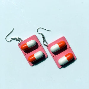 Pill Capsule Earrings