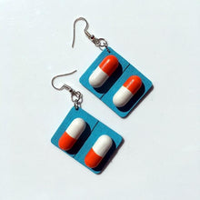 Load image into Gallery viewer, Pill Capsule Earrings