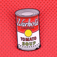 Load image into Gallery viewer, Warhol Tomato Soup Pin